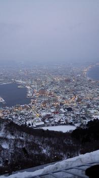 函館の夜景、薄暮.JPG
